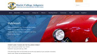 Marist College Ashgrove Student Portal
