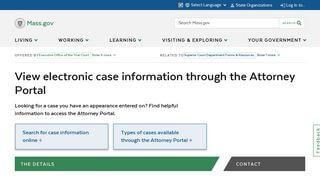 Mass Courts Attorney Portal