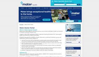 Mater Doctor Portal
