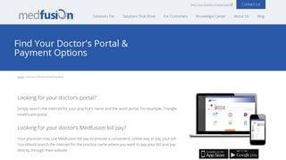 Medfusion Physician Portal