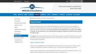 Mehlville Parent Portal