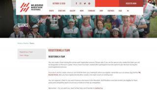 Melbourne Marathon My Events Portal