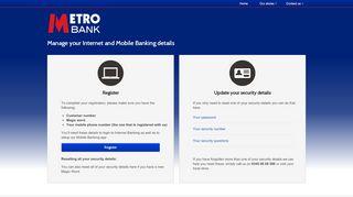 Metro Bank Self Service Portal