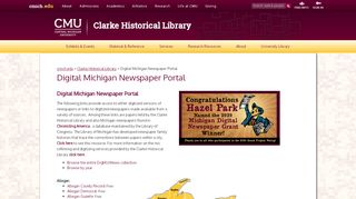 Michigan Digital Newspaper Portal