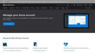 Microsoft Azure Portal Login