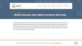 Mobile Web Portal