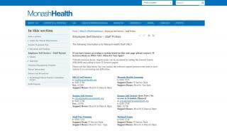 Monash Health Portal