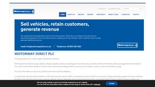 Motorway Direct Customer Portal