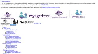My Aged Care Referral Portal