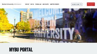 My Bu Student Portal