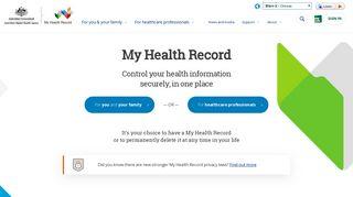 My Health Record Online Portal