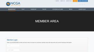 Ncga Tee Time Portal