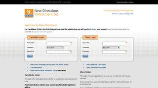 New Directions Web Portal