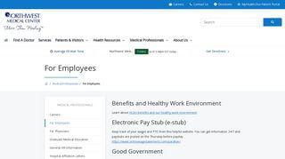 Northwest Medical Center Tucson Employee Portal