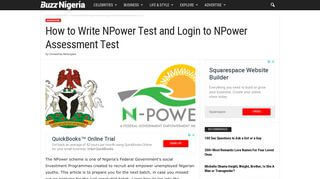 Npower Test Portal