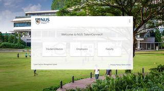 Nus Talent Connect Portal