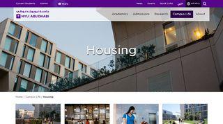 Nyuad Housing Portal