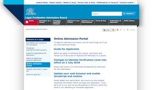 Online Admission Portal