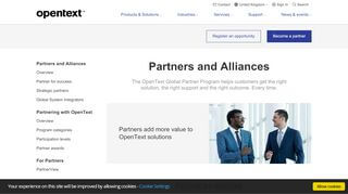 Opentext Partner Portal