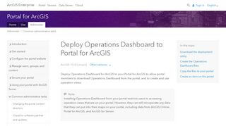 Operations Dashboard Portal