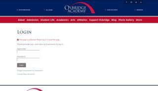Oxbridge Academy Student Portal