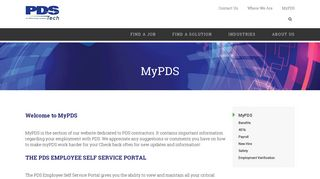 Pds Tech Employee Portal
