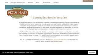 Pecos Flats Resident Portal