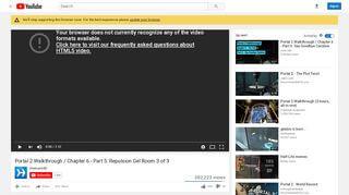 Portal 2 Blue Gel Walkthrough
