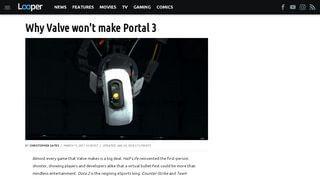 Portal 3 Info