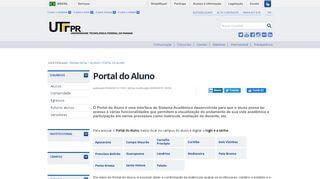 Portal Do Aluno Utfpr