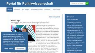 Portal Für Politikwissenschaft
