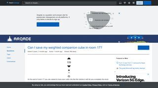 Portal Save Companion Cube
