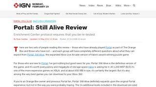 Portal Still Alive Review