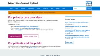 Primary Care Services Portal