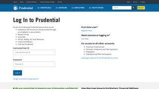 Prudential Online Portal