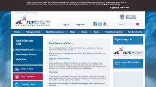 Race Directors Portal