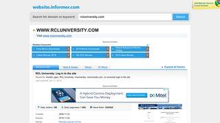 Rcluniversity Com Login Index Php