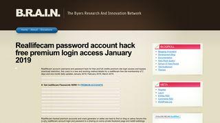 Reallifecam Free Premium Account Login - Find Official Portal