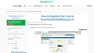Register Pan In Efiling Portal