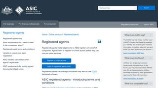 Registered Agent Portal