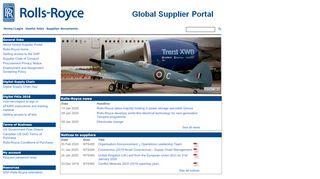 Rolls Royce Supplier Portal