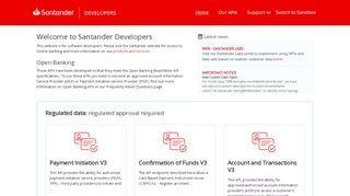 Santander Developer Portal