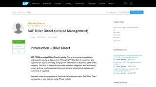 Sap Biller Direct Portal