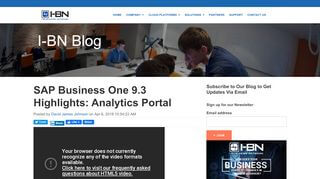 Sap Business One Analytics Portal