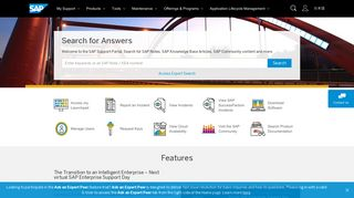 Sap One Support Portal