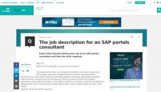 Sap Portal Consultant
