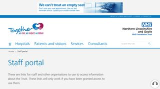 Scunthorpe Hospital Staff Portal