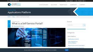 Self Service Web Portal