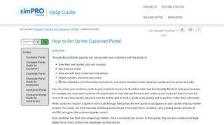 Simpro Customer Portal