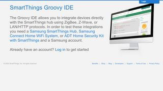 Smartthings Online Portal